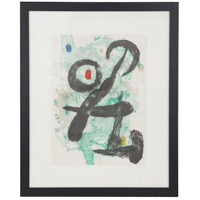 """Joan Miró Color Lithograph """"The Faun"""" for """"Derrière le Miroir,"""" 1963"""