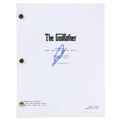 """Al Pacino Signed """"The Godfather"""" Script with COA"""