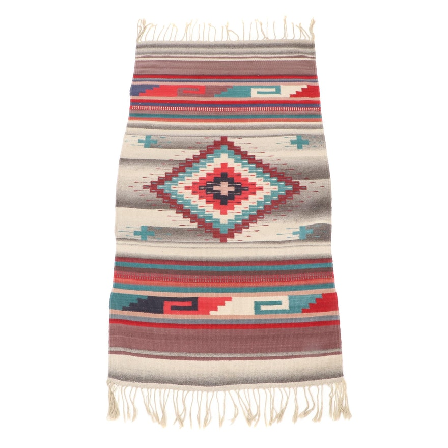 2'6 x 4'11 Handwoven Mexican Zapotec Style Wool Rug