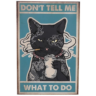 """Giclée Poster of Bad Black Cat """"Don't Tell Me What to Do"""""""