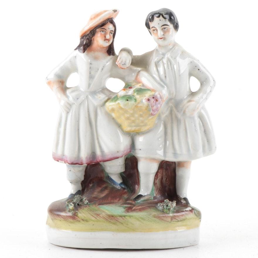 Staffordshire Ceramic Figurine, Mid-19th Century