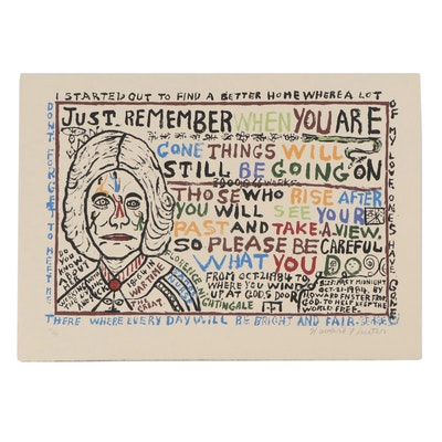 "Howard Finster Serigraph ""Florence Nightingale"""