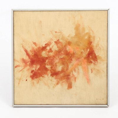 Abstract Acrylic Painting, 1964