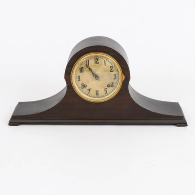 New Haven Clock Co. Wooden Mantel Clock, Early 20th Century
