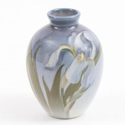 Carl Schmidt Rookwood Pottery Vase with Iris Motif, 1902