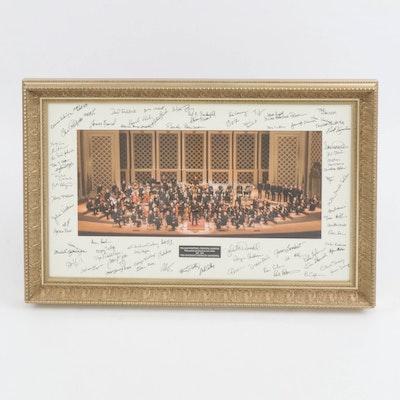 Cincinnati Symphony Orchestra Commemorative Photograph Honoring William Winstead