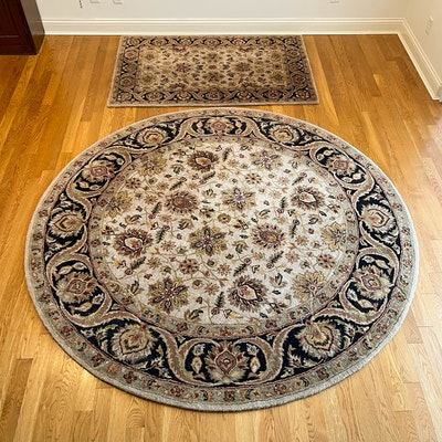 """Hand-Tufted Loloi """"Elegante"""" Collection Floral Wool Area Rugs"""