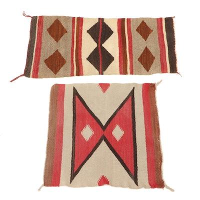 Handwoven Navajo Wool Accent Rugs