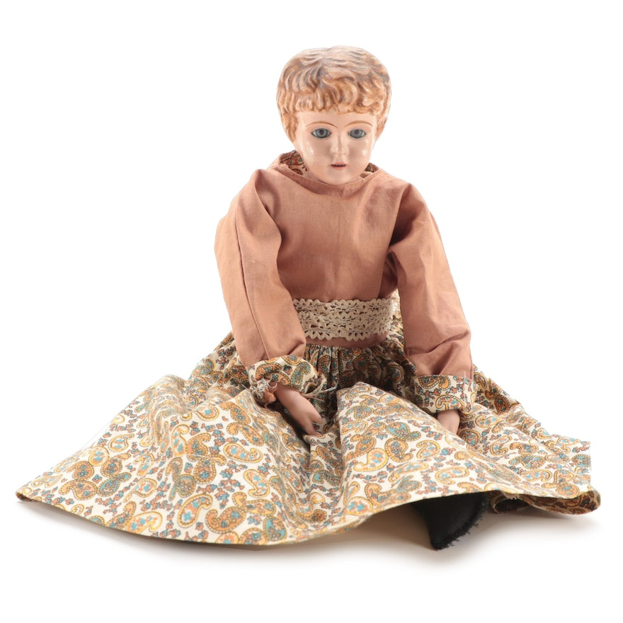 Buschow &. Beck Minerva Tin Head Doll, Early 20th Century