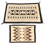 Handwoven Navajo Wool Accent Rugs, Mid to Late 20th Century