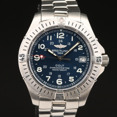 "Breitling ""Colt"" Stainless Steel Quartz Wristwatch"