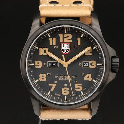 Luminox Atacama Field Day-Date Black PVD Quartz Wristwatch