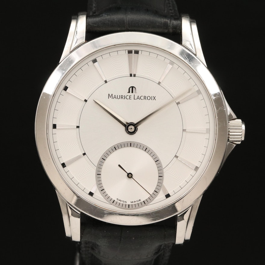 Maurice Lacroix Pontos Small Seconds Stainless Steel Wristwatch