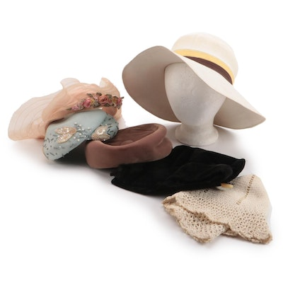 Paris Maid Wide Brim Hat with Other Capulet and Cloche, Pillbox and More