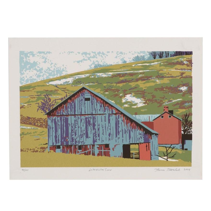"Thomas Norulak Serigraph ""Late Winter Snow,"" 2004"