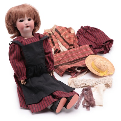 Simon & Halbig Bisque Doll, Clothing, and Accessories, Early 20th Century