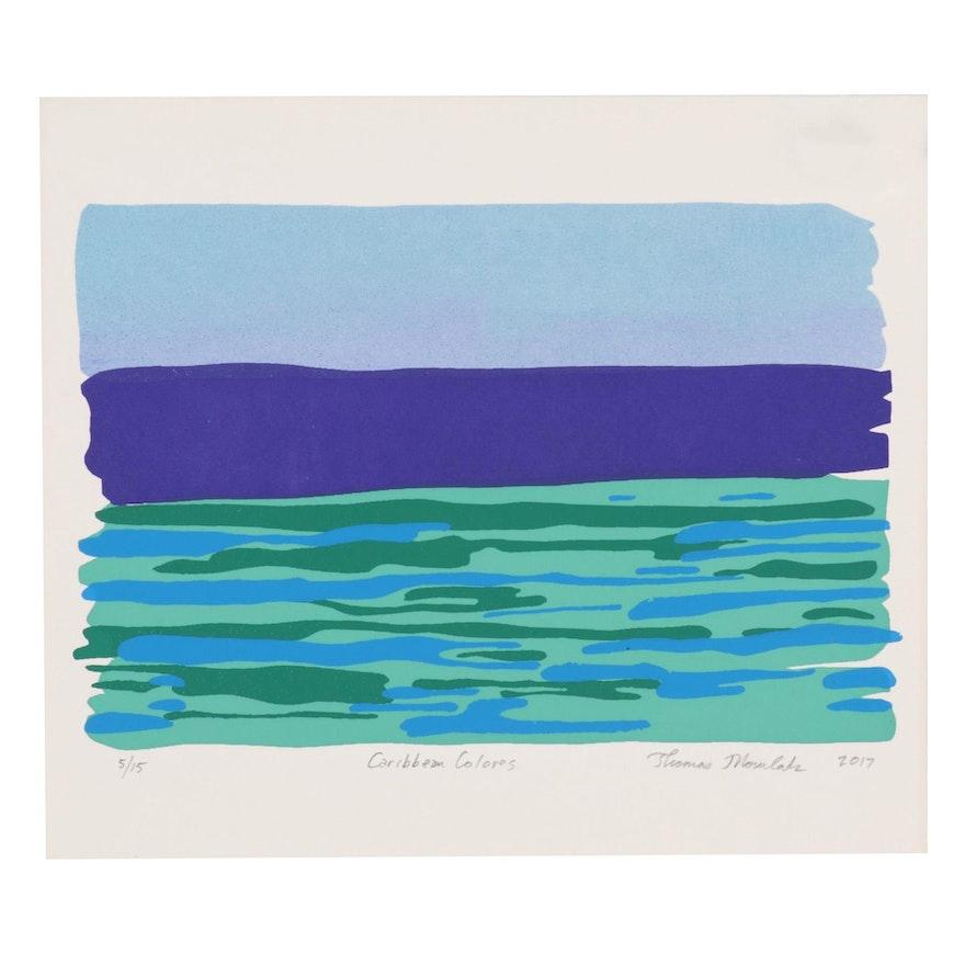 "Thomas Norulak Serigraph ""Caribbean Colors,"" 2017"