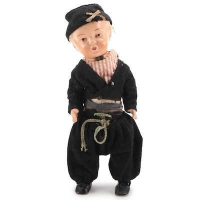 Composite Dutch Style Doll, Early 20th Century