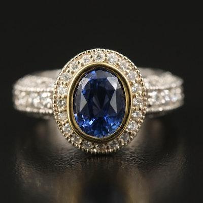 Vacheron Constantin 18K 2.67 CT Sapphire and 1.90 CTW Diamond Ring
