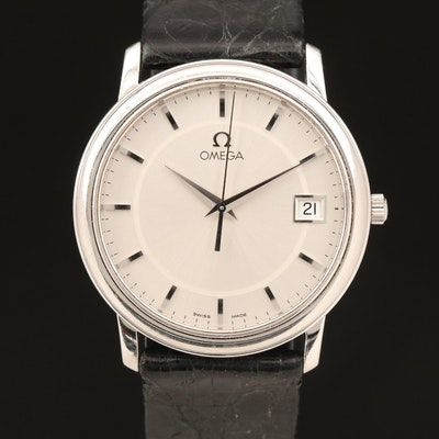 Omega DeVille Prestige Stainless Steel Quartz Wristwatch
