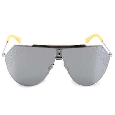 Fendi  FF M0075/S Aviator Shield Sunglasses with Case