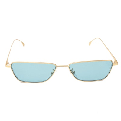 """Paul Smith """"Askew"""" Blue Tinted Half-Rim Sunglasses with Case"""