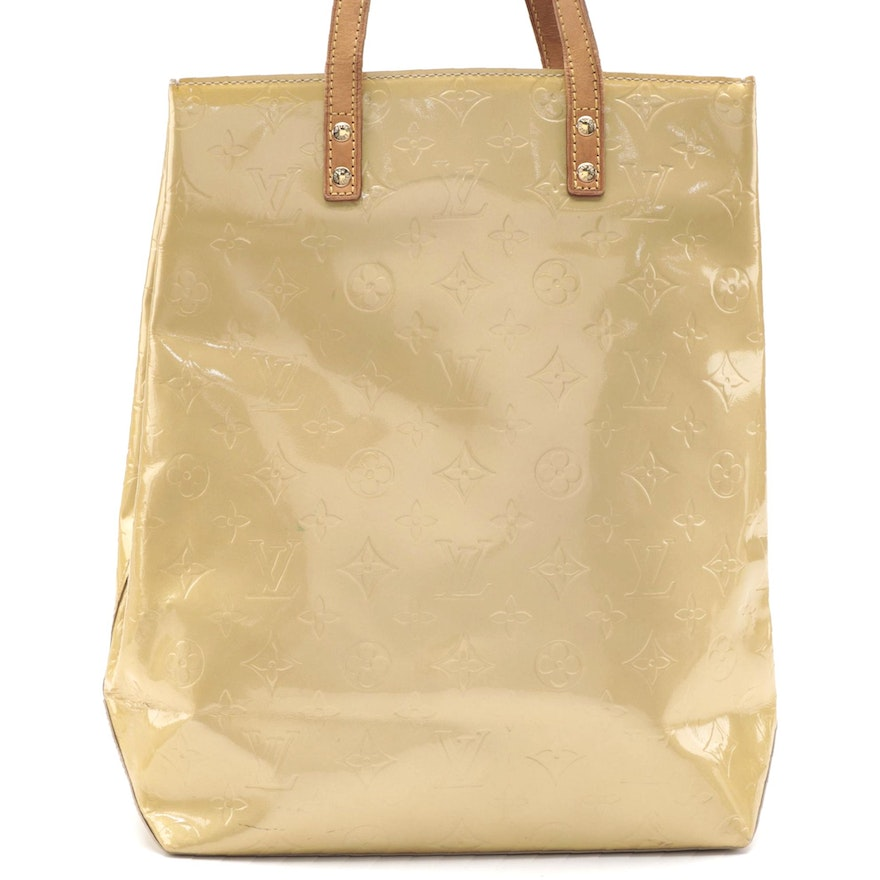 Louis Vuitton Reade MM Tote in Monogram Vernis and Vachetta Leather
