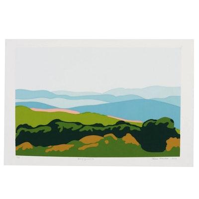 "Thomas Norulak Landscape Serigraph ""West Virginia Vista,"" 2019"