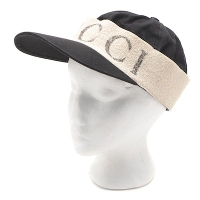 Gucci Logo Baseball Hat with Terry Cloth Band