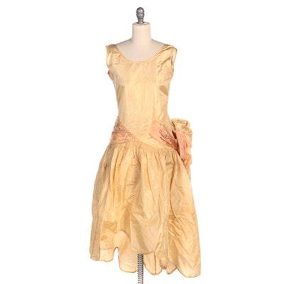 """Silk """"Robe de Style"""" Scalloped Hi-Lo Dress, 1920s"""