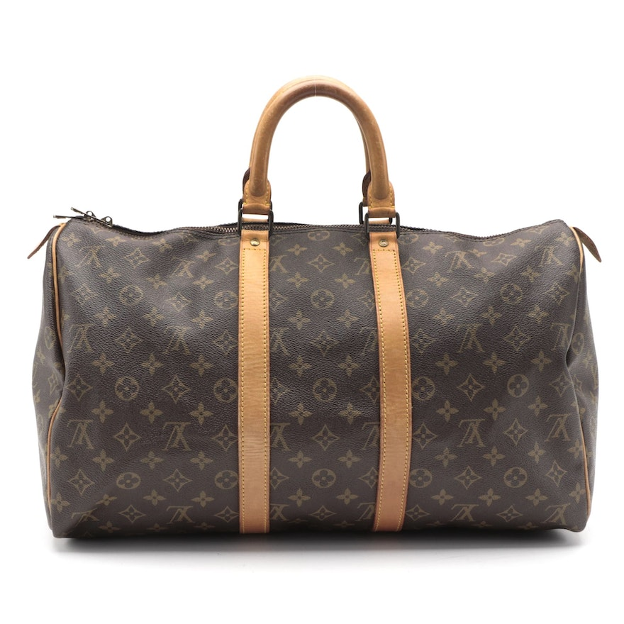 Louis Vuitton Keepall 45 in Monogram Canvas and Leather