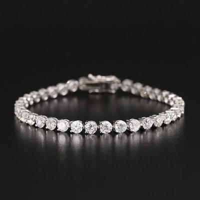 14K 10.80 CTW Diamond Tennis Bracelet