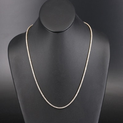 14K 8.68 CTW Diamond Line Necklace