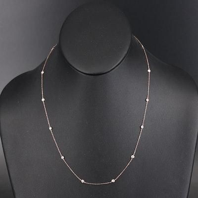 18K Diamond Station Necklace