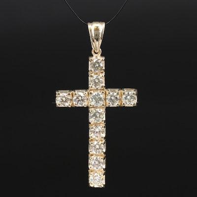 14K 2.43 CTW Diamond Cross Pendant