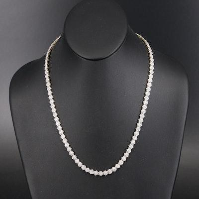 10K 14.80 CTS Diamond Cluster Flower Link Necklace
