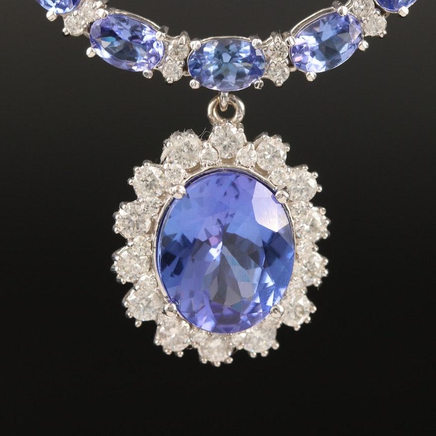 14K 6.42 CT Tanzanite Necklace