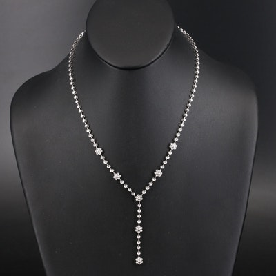 18K 1.16 CTW Diamond Drop Necklace