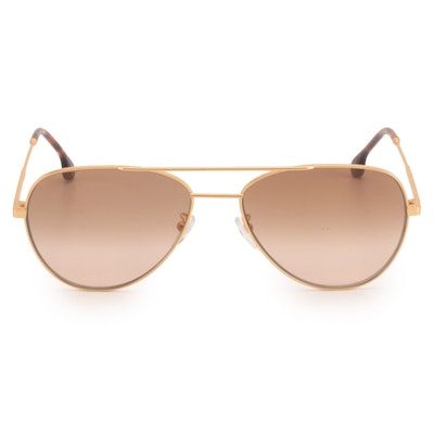 Paul Smith Angus Matte Gold Tone Aviators with Case