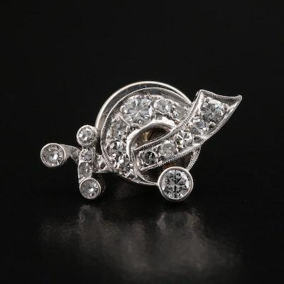 Palladium Diamond Shriner Pin