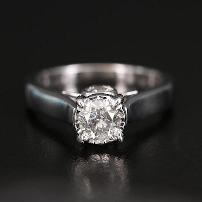 10K Diamond Ring with Illusion Setting