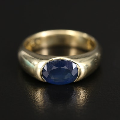 18K Sapphire East West Ring