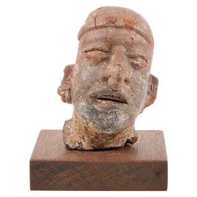 Pre-Columbian Nayarit Ceramic Head, Mexico