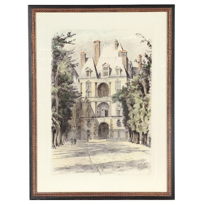 Giclée of Architectural Façade, Late 20th Century