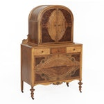 Art Deco Dome Top Chest of Drawers, Early 20th Century