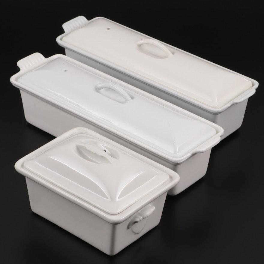 Le Creuset Cast Iron Pâté Terrines and Other Porcelain Baking Dish