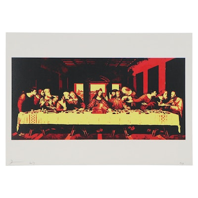 Death NYC Pop Art Graphic Print of Last Supper, 2017