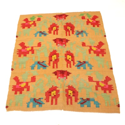 4'11 x 6' Handwoven Mexican Wool Area Rug