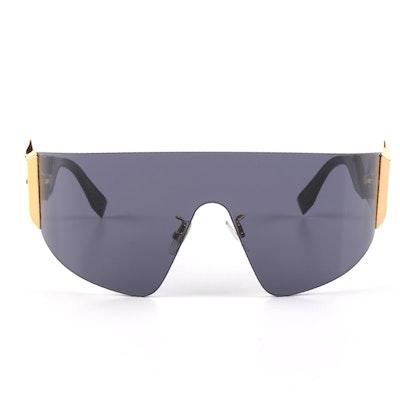 "Fendi ""Freedom"" 0382/S Shield Sunglasses with Case"
