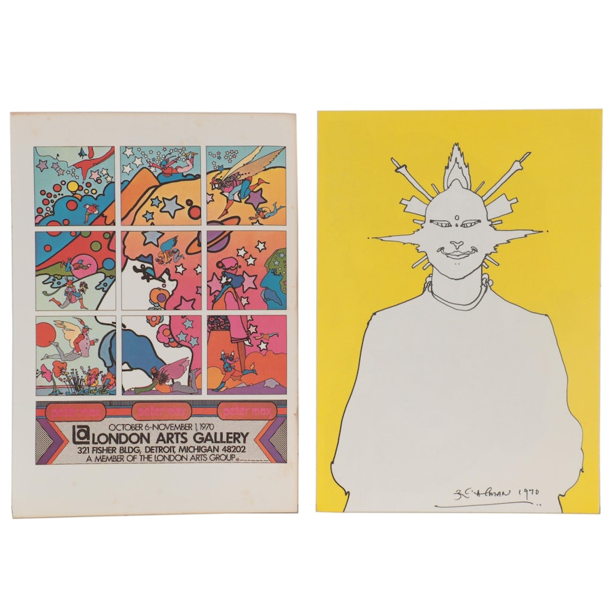 Double-Sided Offset Lithographs after Peter Max